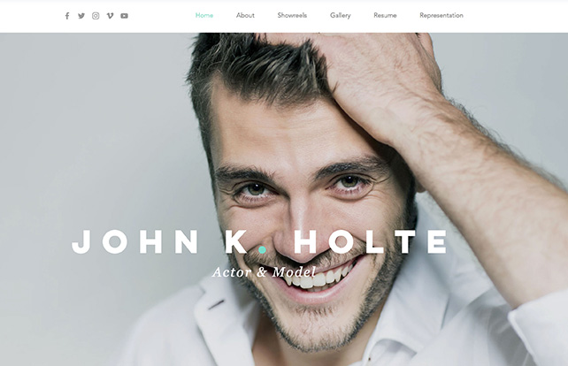 The actor & model resume website template