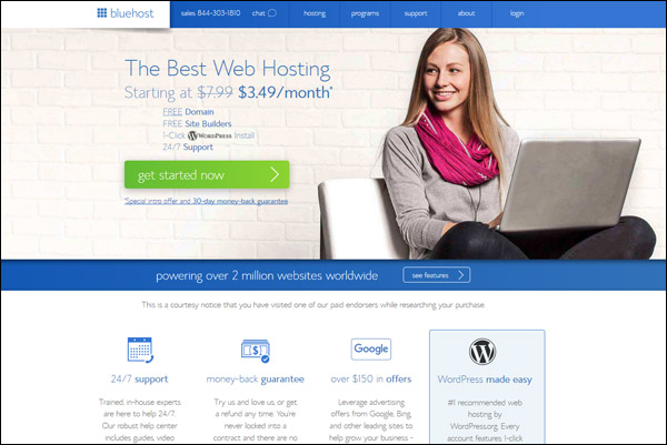 Bluehost - Awarded #4 Top WordPress Hosting Provider