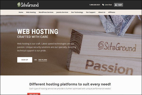 SiteGround - Awarded #5 Top Joomla Hosting Provider