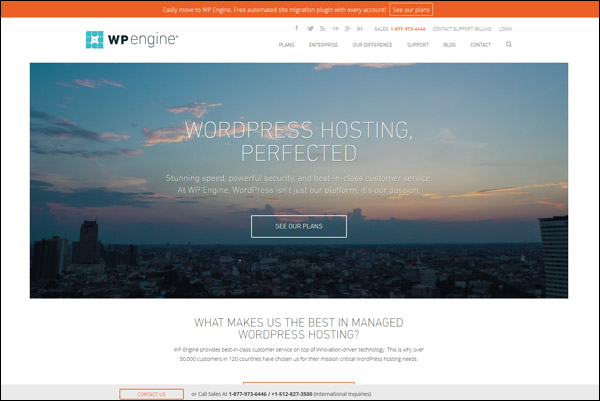 WP Engine - Awarded #5 Top WordPress Hosting Provider